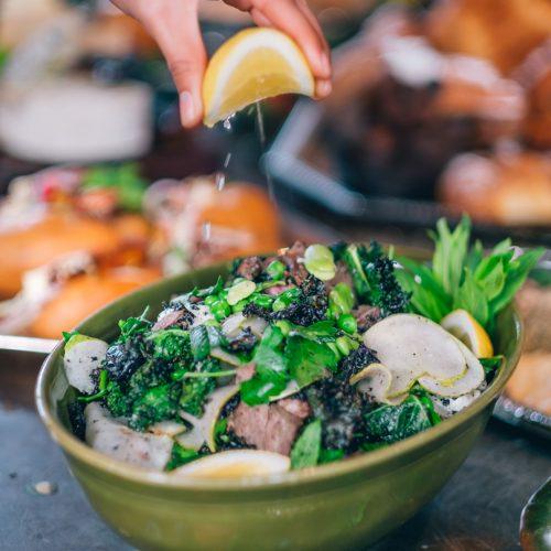 Hot Smoked Lamb Shoulder (Share Salads)