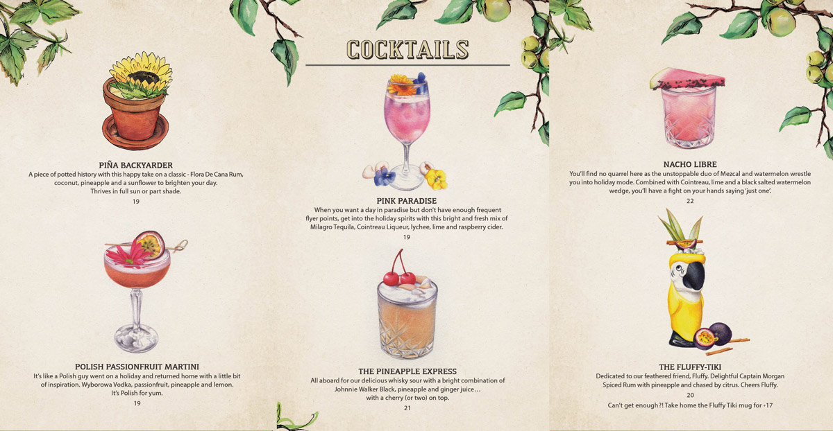 Cocktail Menu | The Potting Shed - The Grounds of Alexandria