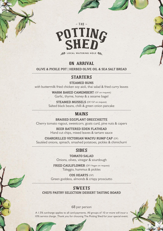 The Potting Shed | Set Menu