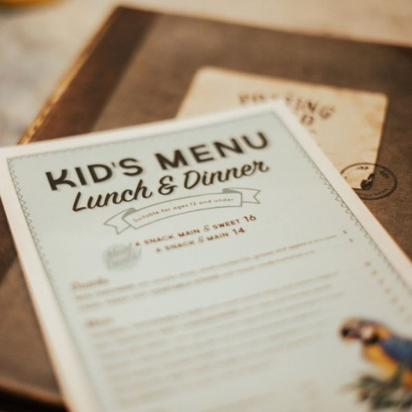 The Grounds Kids Menu